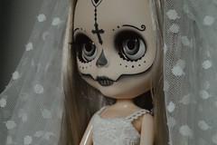 Gothic Calavera (lolidolicustoms) Tags: black doll ooak blythe custom commission calavera lolidoli