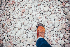 deja vu (itawtitaw) Tags: white alps color feet wet contrast outside bayern bavaria boot focus glow bright hiking stones snapshot lookdown 28 24mm palladium f28 gravel wideopen obersee knigssee rthbachfall canoneos5dii canon2470mm28ii