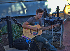 Street Musician (raymondclarkeimages) Tags: raymondclarkeimages rci 8one8studios pictureof streetmusician guitar philly 6d 2470mm28 outdoor usa people music canon acousticguitar strings instrument public streetphotography hearts