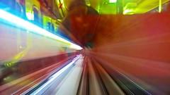 antwerp subway reflection (Joyce Davidse) Tags: street city red urban bw white black color colour wheel architecture subway photography belgium belgique belgie devils citylife ferris joyce antwerp grayscale antwerpen chromatic anvers rode duivels davidse blagique