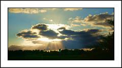 Sunrays (SFB579 Namaste) Tags: blue england sky sun black sunshine clouds dark landscape grey skies moody bright menacing sony yorkshire pit mining disaster wakefield rays atmospheric compact lofthouse