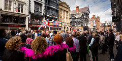 Queen Elizabeth II's 90th birthday celebrations in Chester (Mark Carline) Tags: chesterculture queen queens90thbirthday streetphotography cheshire chester