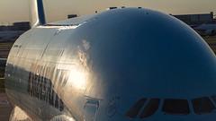 Korean Air Airbus A380 HL7613 - LHR (Aviation and Travel photography) Tags: sunset london canon asian asia flickr aircraft aviation air south korea korean seoul airbus a380 lhr hl7613