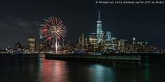 New York Pride Fireworks - 2016 (DSC01750) (Michael.Lee.Pics.NYC) Tags: longexposure newyork reflection night newjersey jerseycity fireworks sony pride newport hudsonriver lowermanhattan 2016 voigtlandernoktonclassic35mmsc14 a7rm2