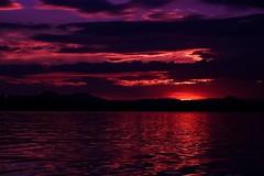 Redlight District (yarin.asanth) Tags: light sunset red lake love water silhouette clouds dark evening soft kayak waves sundown wind time district hills silence breeze redlight constance hegau yarinasanth gerdkozik