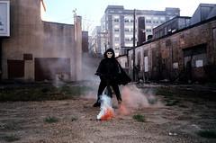 (Jacob Seaton) Tags: abandoned bike bicycle skeleton skull smoke baltimore musicvideo rapture grimreaper smokebomb tylerdavis naomidavidoff usandusonly