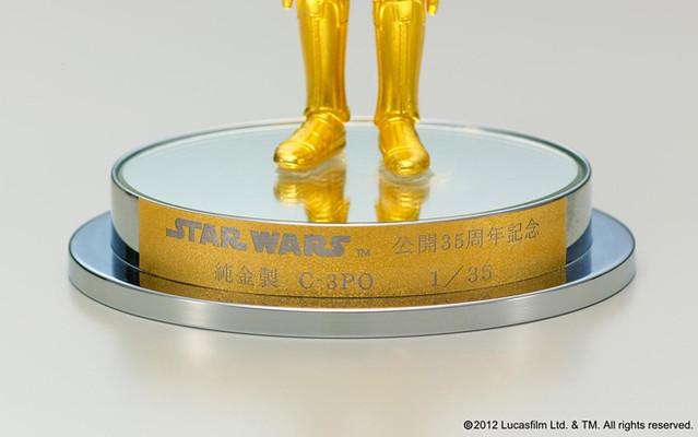 星際大戰超級限定品純金製 C-3PO和純銀製 R2‐D2