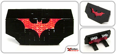 Batman Desk Plate (ZetoVince) Tags: dark logo greek lego desk name bat vince plate ornament batman knight beyond zeto zetovince dreamdealer