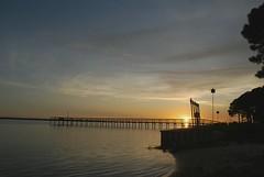 Panacea Sunset & Moonset Timelapse (AaronLS) Tags: sunset moon beach timelapse moonset