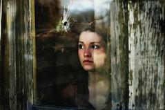 (emmakatka) Tags: portrait house abandoned broken window glass girl alone hole 14 northdakota bullet mm 50 derelict abandonment