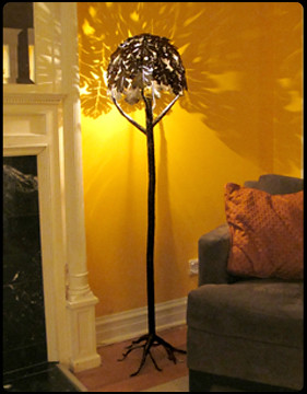 Tree of Light Steel Floor Lamp