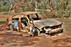 Burnout Syndrome (Tintinara) Tags: car rust burnt wreck