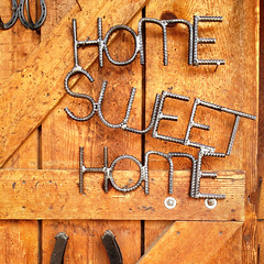 Home Sweet Home (pixelmama) Tags: california columbia luck lucky viola horseshoes homesweethome imissyou columbiastatehistoricpark goodluckcharms goinwest thinkingofmymom iphoneography iphone4s whobelievedinluckytalismans