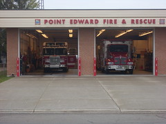 Canadian Fire & Rescue Shed (doddy2791) Tags: red rescue lake canada truck point fire edward huron lakehuron pointedward