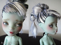 Frankie Monster High Repaint (happy dolls) Tags: cute monster high doll forsale sweet adorable frankie kawaii bjd etsy custom happydolls stein fa fs repaint foradoption hellohappy