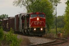 Fatboy Sammich (Wide Cab) Tags: cn train meet freight winnebago canadiannational manifest oshkoshwi a447 neenahsub winnebagosiding