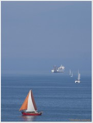 I am sailing... (Queen Breaca (on ipernity)) Tags: blue summer ferry sommer balticsea blau ostsee fhre segelboot schleswigholstein sailingboat norddeutschland northgermany timmendorferstrand hairygitselite queenbreaca l1pfr l2pfr l3pfr l4pfr