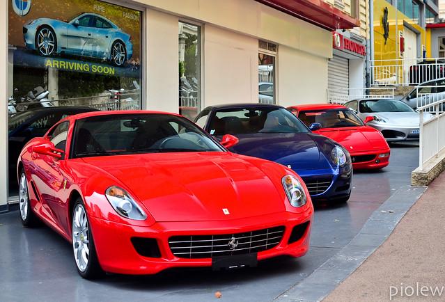 blue red silver top ferrari monaco carlo monte marques coupe 2012 dealer f430 gtb combo 612 scaglietti 355 berlinetta 599 fiorano