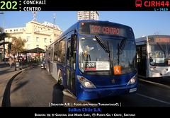 202 | CONCHALÍ - CENTRO (Mr. Mobitec) Tags: chile santiago bus buses volvo publictransport marcopolo mapocho transantiago transportepúblico estaciónmapocho volvob7rle b7rle calycanto granviale subus troncal2 subuschile puentecalycanto