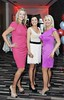 Joanne Connolly, Claire Hendrick and Michelle B Kane at the Unislim 40th birthday party in Radisson Blu, Golden Lane Dublin. Photo: Sasko Lazarov/Photocall Ireland