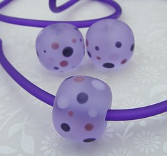 Purple Chunky Dotties (Glittering Prize - Trudi) Tags: glass beads purple handmade lampwork artisan pvc dottoes