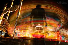 insanity () Tags: auto park portrait andy night self lights amusement movement slow ride andrea andrew luna shutter movimento luci giostra ritratto notte lunga esposizione benedetti