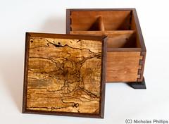 Medium Cherry Tea Box, with Spalted Wood Top (sunyata) Tags: cherry walnut shellac medium product woodworking teabox tungoil foundwood