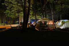 Camping time... (**** j a z z z i ***) Tags: camping colors night lights tent essence campground hdr