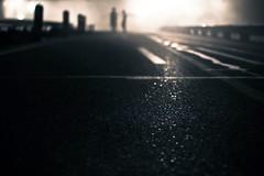 alone in the dark (Trstn.Mrvn) Tags: street bridge friends sky people night clouds germany dark highway darkness bright hell apocalypse silhouettes 50mm14 route supernova dust underworld sreet roadwork 2012 excavator constructionwork