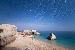 mariolu startrail (wild friday) Tags: sardegna sea moon beach night mediterranean mare sardinia time outdoor luna full moonlight tempo spiaggia notte piena notturno stelle startrail mariolu sgualdini