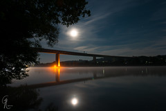 DSC_2940 (Cedric J. R. Lightworks) Tags: bridge light reflection night river licht bright nacht hell autobahn fullmoon brcke fluss reflexion danube donau vollmond