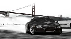 Audi R8 in San Francisco, CA (Richard.Le) Tags: california motion black car photography amazing cool san francisco european action smoke awesome fast automotive super exotic le richard audi luxury drift r8 activfilms