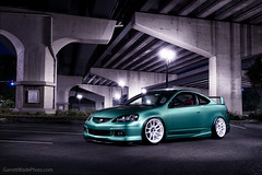Rich's RSX (Garrett Wade (v2lab)) Tags: red green mystery work lights orlando highway downtown low overpass spoon meat kai acura integra cr commerical midori typer dc5 slammed stance rsx recaro mugen itr dc5r v2lab strobed stanced