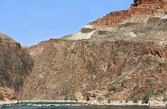 Geologic Section below Hance Rapids / Grand Canyon (Ron Wolf) Tags: arizona nature rock nationalpark mine sill erosion limestone geology petrology earthscience grandcanyonnationalpark deposition schist intrusion unconformity diabase proterozoic vishnuschist bassformation