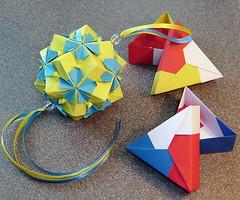 Мир и дружба! (Maslova Halyna) Tags: origami box kusudama tomokofuse origamiflowers