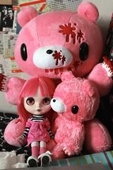 Gloomy (EssHaych) Tags: bear pink japan toy japanese blood doll factory gloomy teddy plush cuddly plushie blythe custom tbl