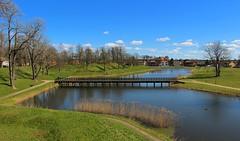 Early Spring (bjorbrei) Tags: bridge water norway canal spring bluesky ramparts moat gamlebyen greengrass fredrikstad