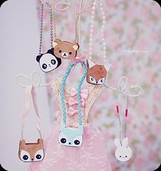 Bags my dolls ( MaL Pink  ) Tags: cute bunny girl bag doll panda dolls sweet dal fox kawaii owl coruja pullip bags boneca bolsas rilakkuma raposa bolsinhas