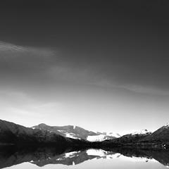 Layers (stephen cosh) Tags: blackandwhite film mediumformat landscape scotland unitedkingdom gb ilfordpanf50 lochcluanie zeiss80mmplanar stephencosh hasselblad205tcchasselblad205tcc