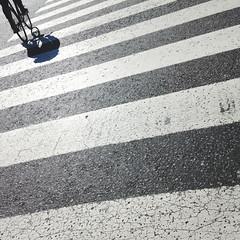 Bike line (macnarq) Tags: street shadow urban bw streetart blancoynegro argentina lines buenosaires shadows geometry creative streetphotography streetlife sombra diagonal contraste streetpeople lineas urbanphoto fotografiadecalle artcreative fotodecalle blanckandwhitestyle