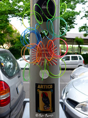 Roma. San Paolo. Street art-sticker art by Artico (R come Rit@) Tags: urban italy streetart rome roma muro art wall photography graffiti sticker stickerart italia arte label streetphotography wallart urbanart labels roadsign walls graff segnalistradali sanpaolo artico graffitiart muri trafficsignals signposts ostiense arteurbana stickerbomb graffitirome italystreetart streetartitaly romegraffiti graffitiroma slapart streetartrome streetartphotography romastreetart streetartroma romestreetart urbanartroma stickervandal ritarestifo signscommunication romeurbanart