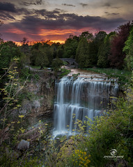 Websters Falls  Sunset (Spencer Smye Photography) Tags: world sunset copyright ontario beautiful landscapes all gorgeous waterfalls rights gorge spencer dundas cascade reserved the webstersfalls hamiltonontariocanada cityofwaterfalls ontariotravel hamiltontourism ontariotravels