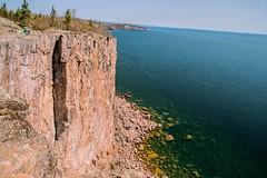 Exploring Palisade Head (Doug Wallick) Tags: lake water minnesota rock silver bay high head great superior beaver formation palisade lakesuperior vast repel hihway61