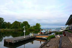 Quiet morning at the marina (Bubash) Tags: morning wisconsin marina boats island dock quiet cloudy bob captain madeline lakesuperior damp