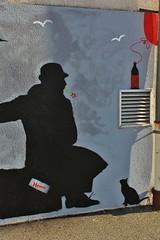 Nemo_9425 rue du Docteur Calmette Montreuil (meuh1246) Tags: streetart chat nemo chapeau animaux montreuil ruedudocteurcalmette festivalmontreuilstreetart