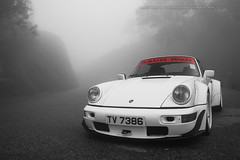 "Porsche ""Rauh-Welt"", 964 Cabriolet, Hong Kong (Daryl Chapman Photography) Tags: auto china road windows hk cars car rain misty fog photoshop canon photography hongkong eos drive is nice automobile driving power wheels engine fast automotive headlights gas daryl ii german 1d porsche brakes petrol autos grip rims f28 rwb hkg fuel sar drivers horsepower chapman mkiv 964 topgear bhp 70200l cs6 worldcars darylchapman tv7386"
