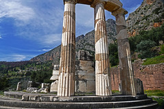 Temple of Athena- Delphi, Greece (Flortography) Tags: travel mountain outdoors greek europe day foto ruin delphi eu tourist unesco professional greece histoire destination fotografia mythology professionalphotography histor