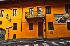 Yellow on the street (Marco Trov) Tags: street italy house casa strada italia cuneo manta hdr canong1x marcotrov