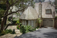 """Fables"",  A Fairytale Cottage (Greatest Paka Photography) Tags: travel house history home fairytale village cottage coastal carmel storybook fables carmelbythesea centralcalifornia hughcomstock wavyroof carmelstone comstockcottage"