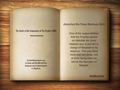 Abdullah Ibn Umm Maktum (RA) (worldmuslimpediawmp) Tags: ra prophet umm ibn companions abdullah maktum storiesofsahaba